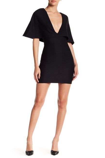 Missguided Crepe Cape Bodycon Dress