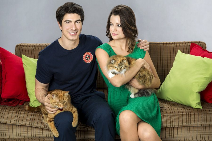 Brandon Routh and Kimberley Sustad in The Nine Lives of Christmas