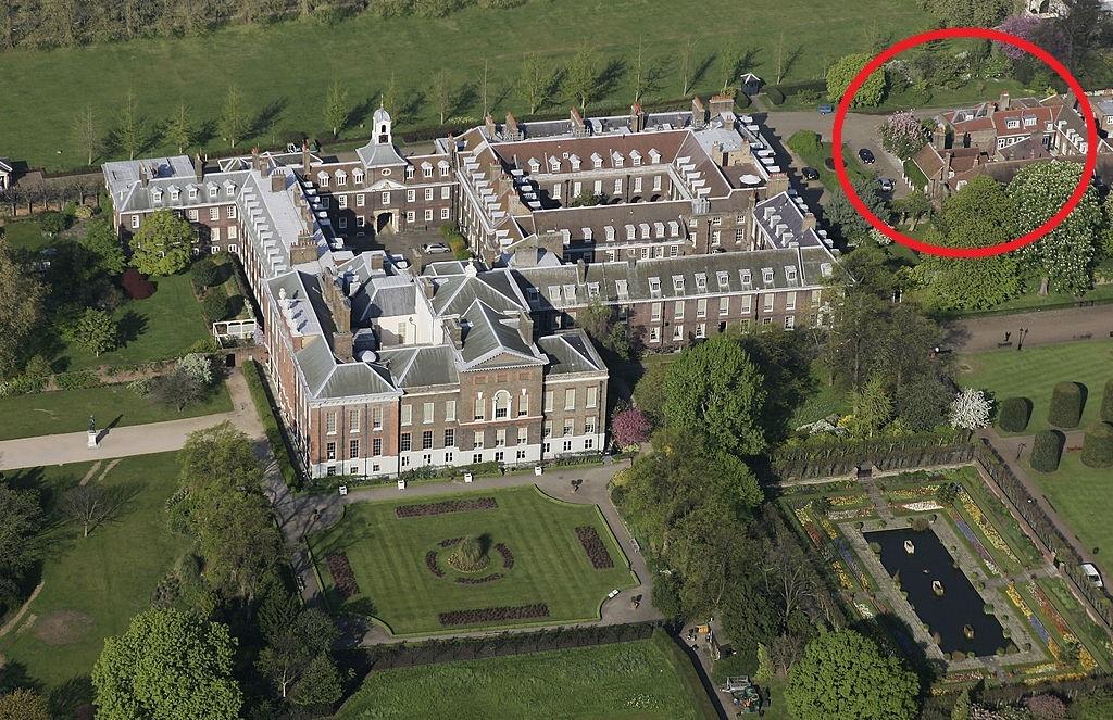 Nottingham Cottage circled