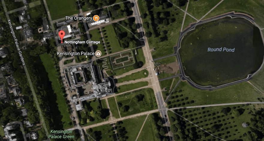 Google view of Nottingham Cottage