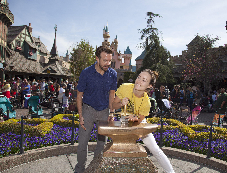 Olivia Wilde And Jason Sudeikis Visit Disneyland In California