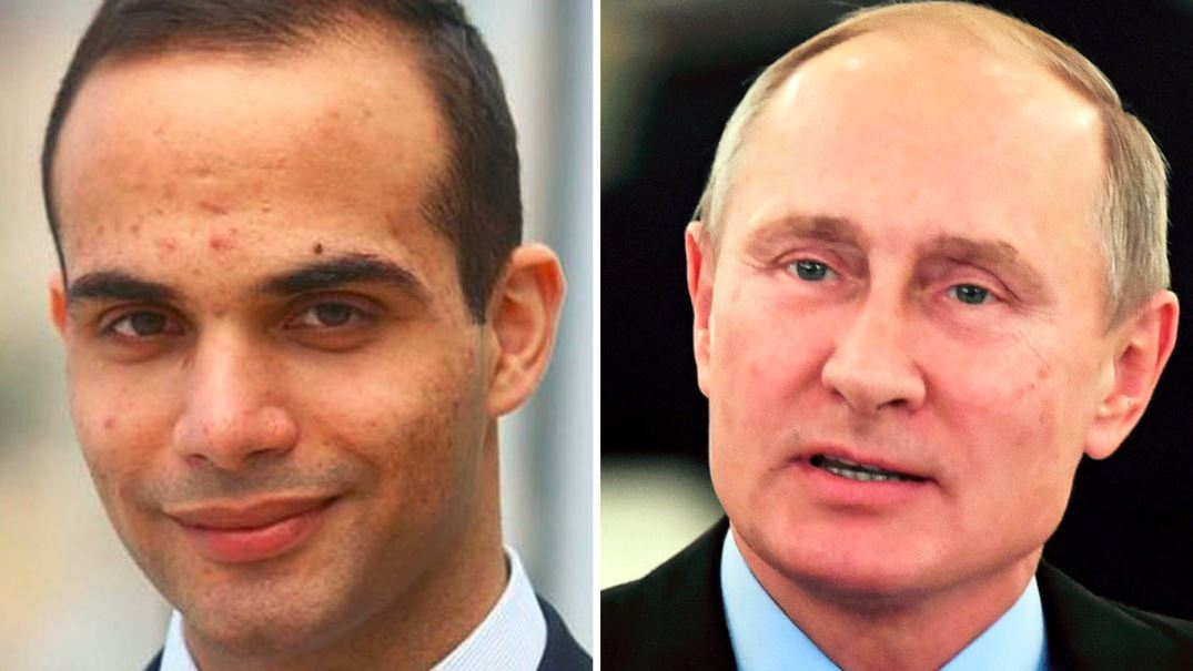 Papadopoulos and Putin side by side