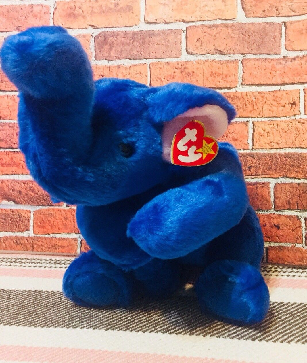 Peanut The Royal Blue Elephant Beanie Baby