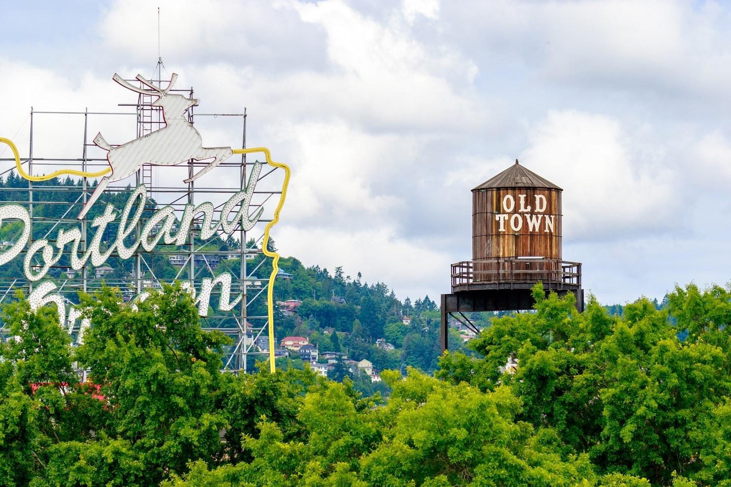 sign for Portland, Oregon