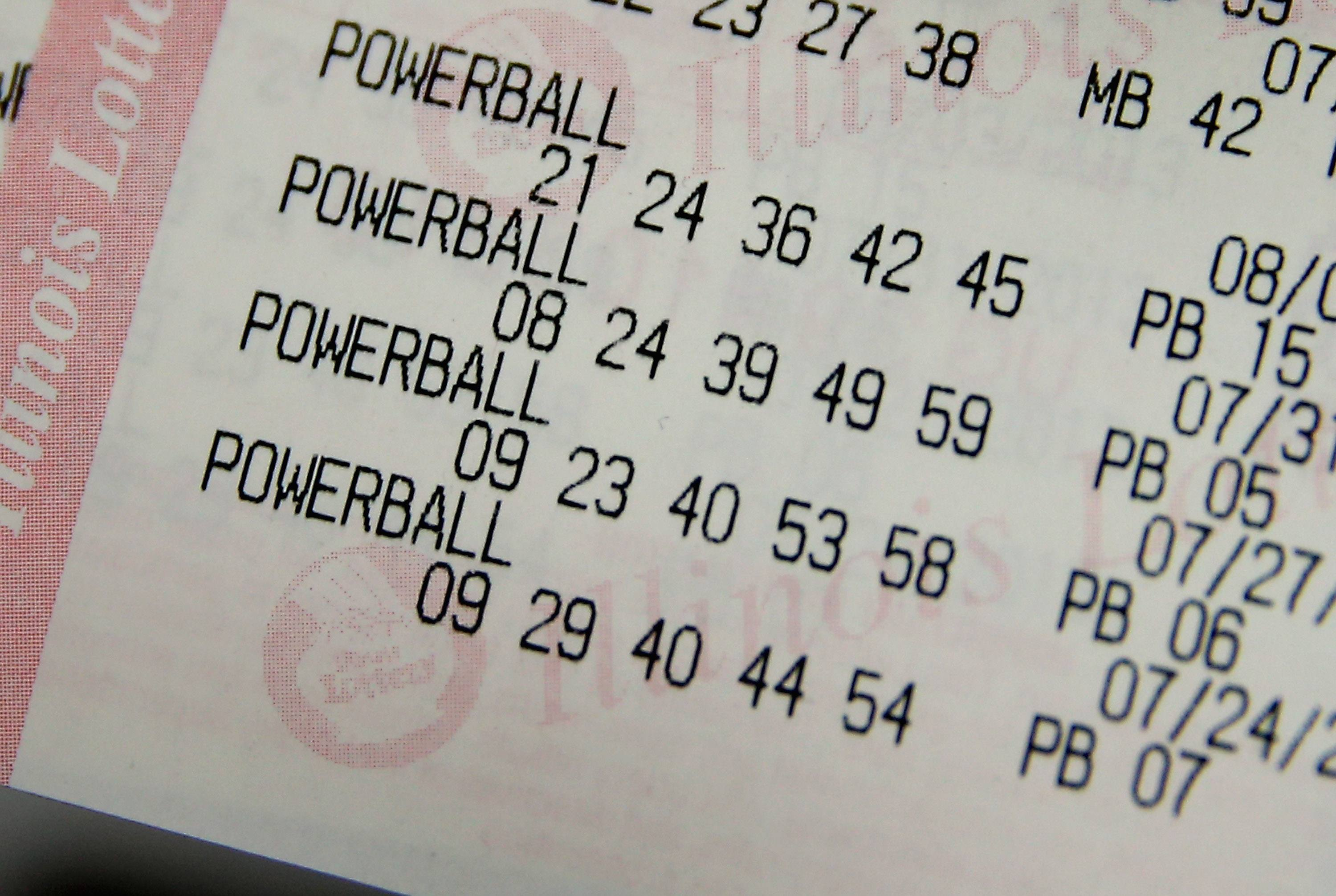 Powerball lottery numbers