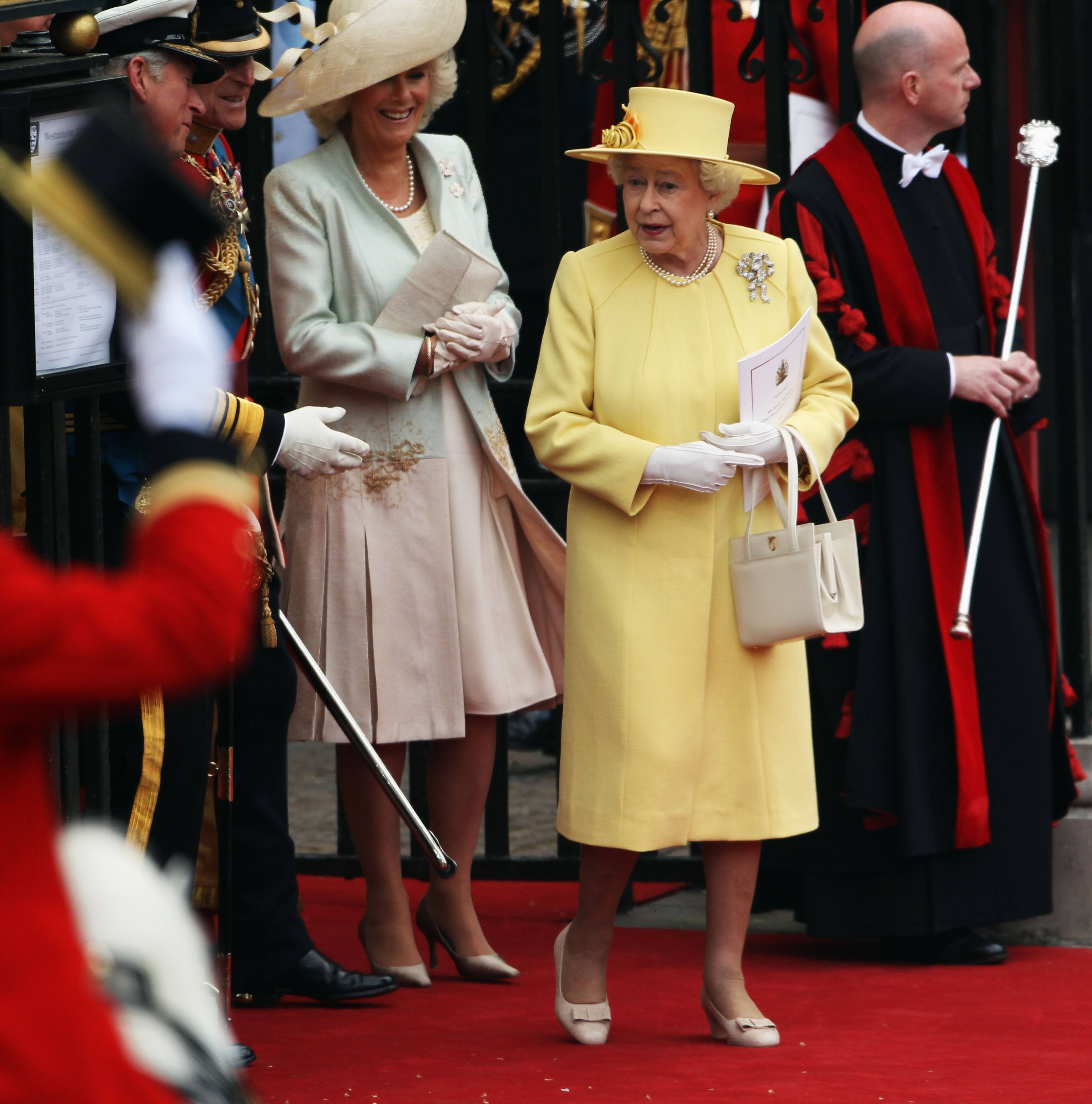 Queen Elizabeth and Camilla the Duchess of Cornwall