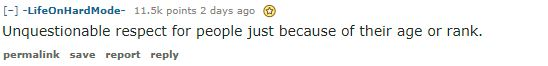reddit post about respecting age