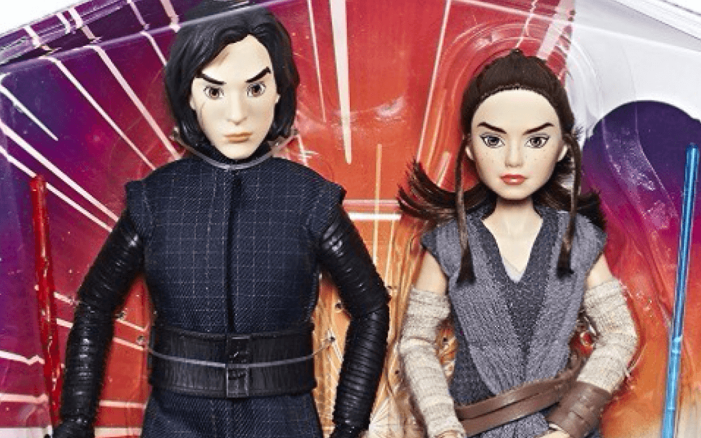 Kylo Ren and Rey dolls in the Forces of Destiny toy line