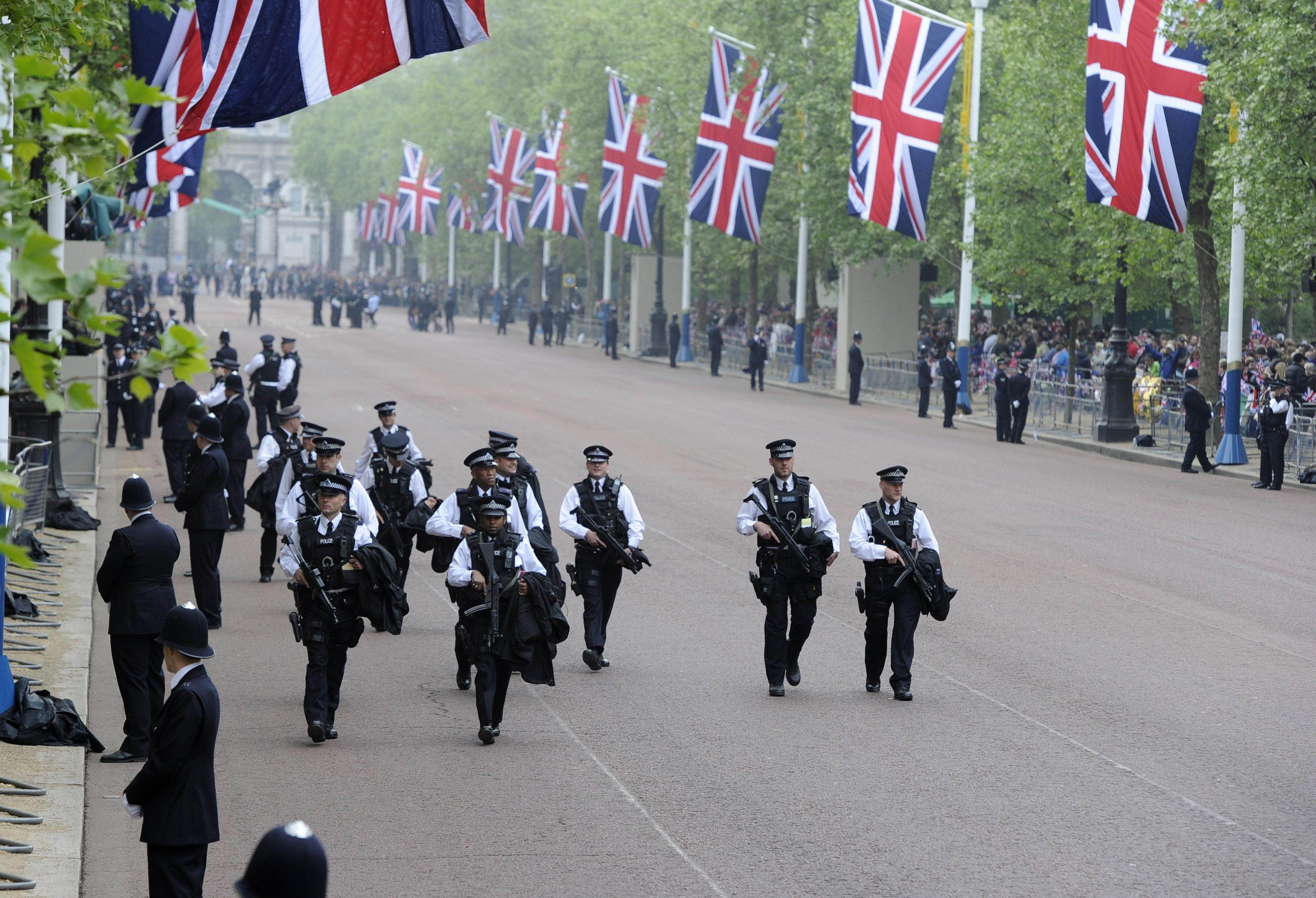 Heavy security at the royal wedding