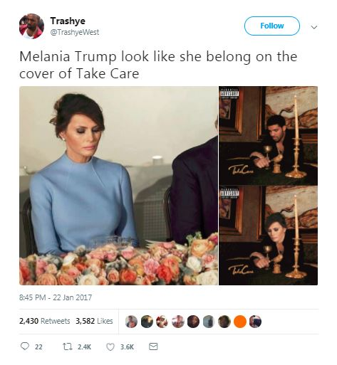 a meme from twitter about melania trump