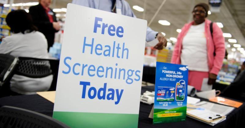 Sam's club health screening
