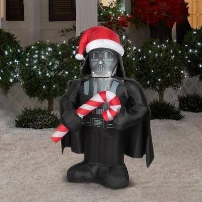 CHRISTMAS DECORATION LAWN YARD INFLATABLE AIRBLOWN DARTH VADER