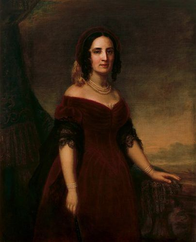 Portrait of Sarah Childress Polk.