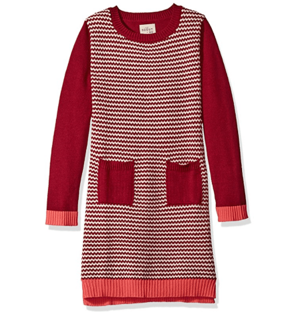 Scout + Ro Girls' Sweater Dress with Patch Pocket