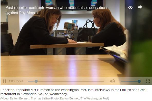a screenshot of jaime phillips meeting with a washington post reporter