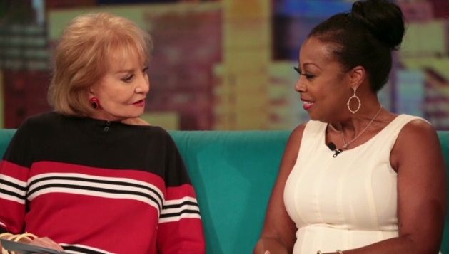 Barbara Walters and Star Jones on The View