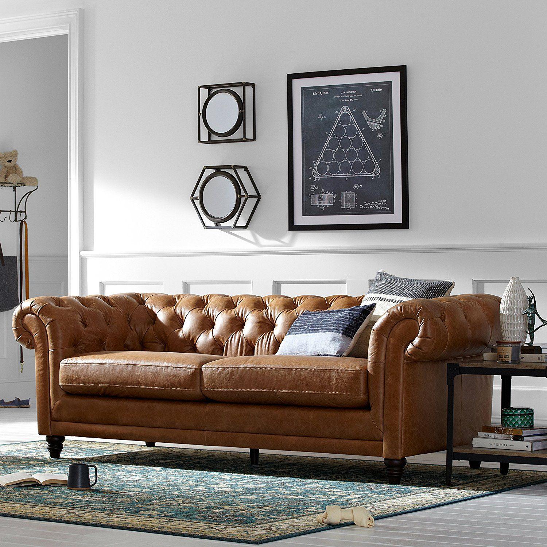 Stone & Beam Bradbury Chesterfield Modern Sofa