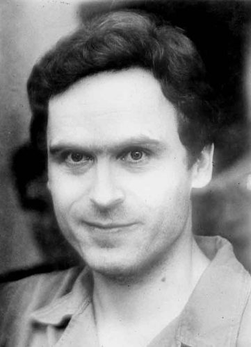 Ted Bundy black and white photograph.