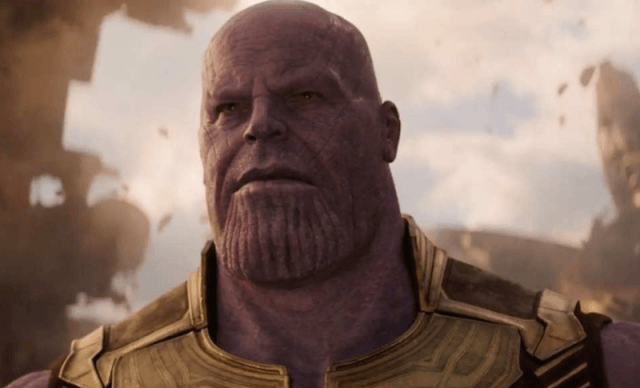 Thanos looking straight ahead.