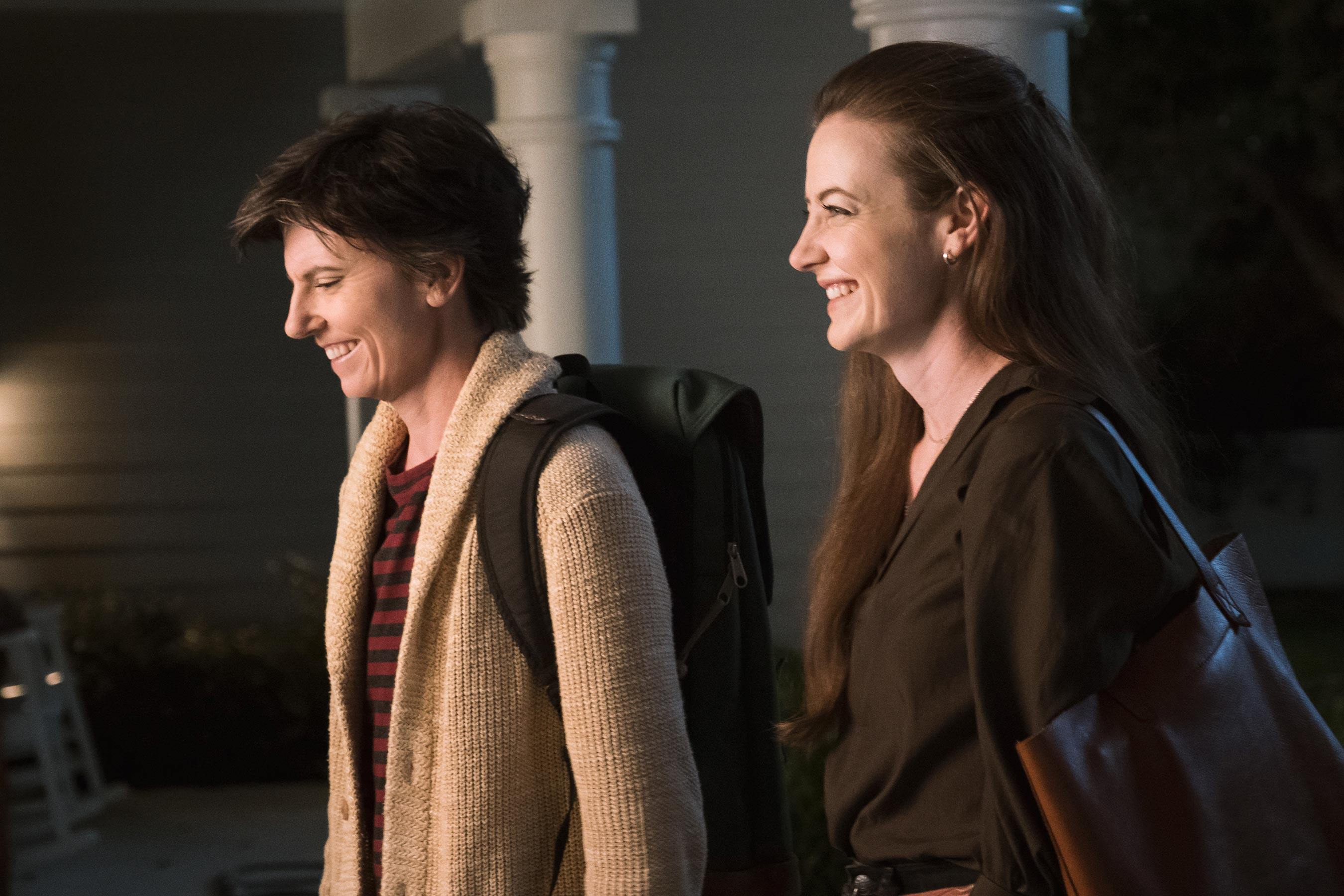 Tig Notaro as Tig Bavaro and Stephanie Allynne as Kate on One Mississippi