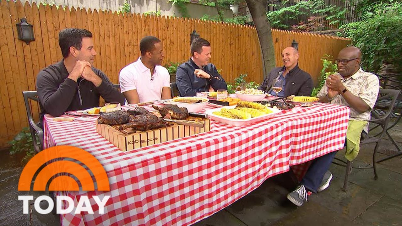 Carson Daly, Craig Melvin, Willie Geist, Matt Lauer, and Al Roker