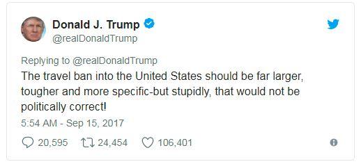 trump travel ban tweet