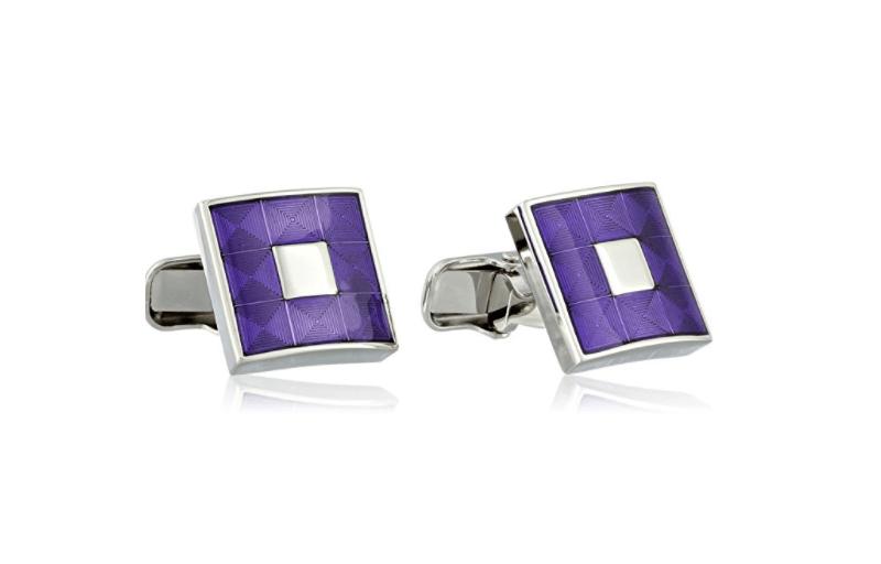 trump purple cufflinks