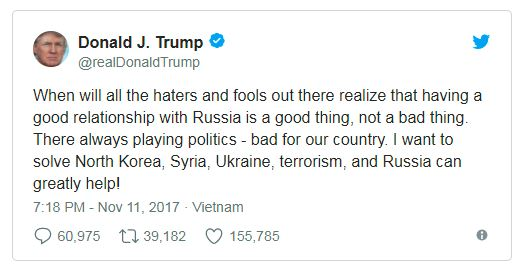 trump tweet on russia and putin