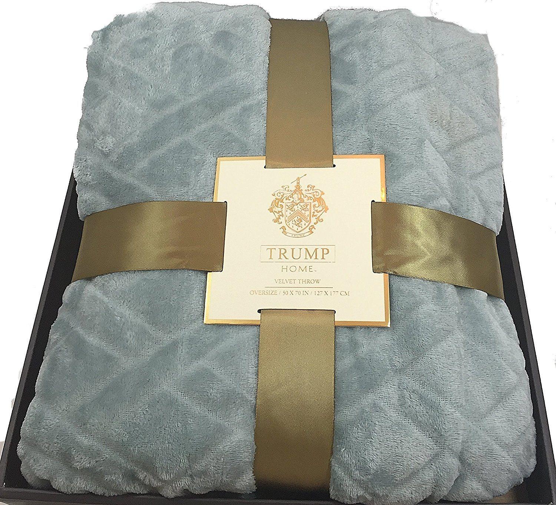 trump velvet throw blanket