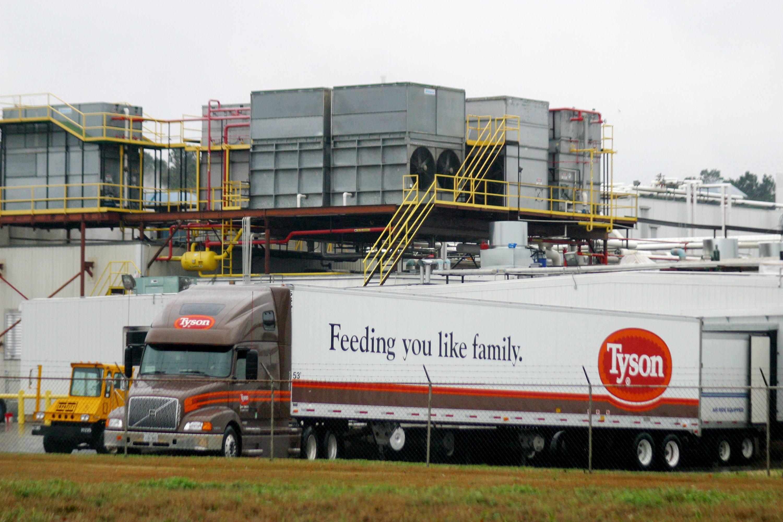 A Tyson poultry truck