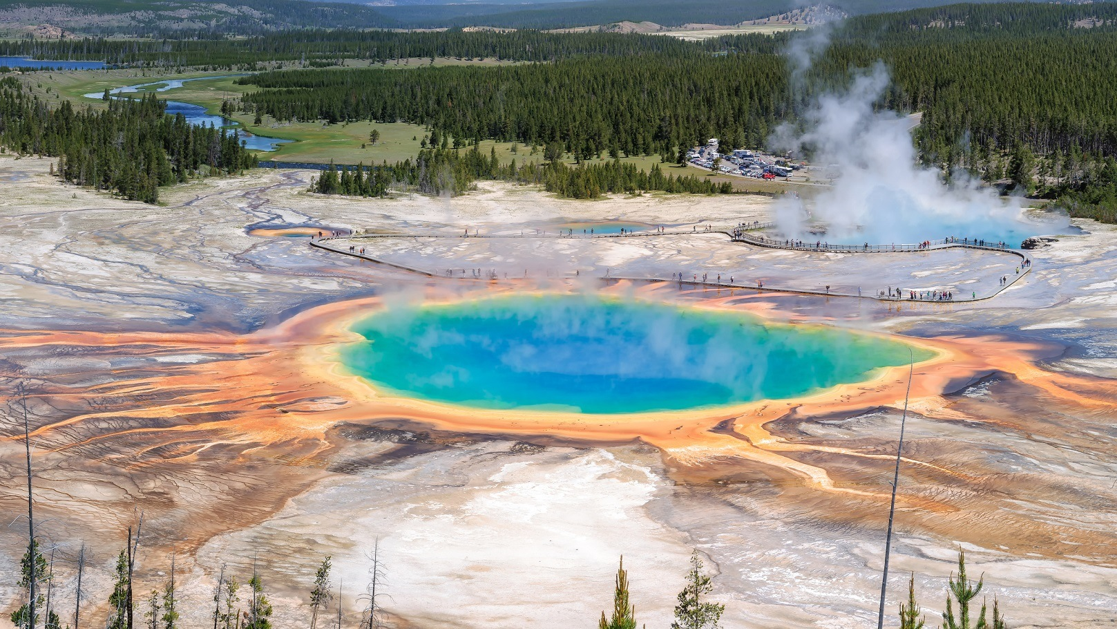 Yellowstone and 9 other active volcanoes that could erupt at any minute grand prismatic spring yellowstone national park sciox Gallery