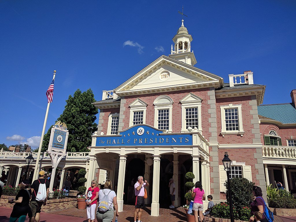 exterior of Disney World Hall of Presidents