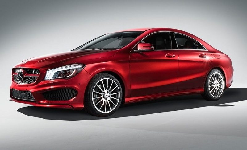 2014 Mercedes Benz CLA C250 in red