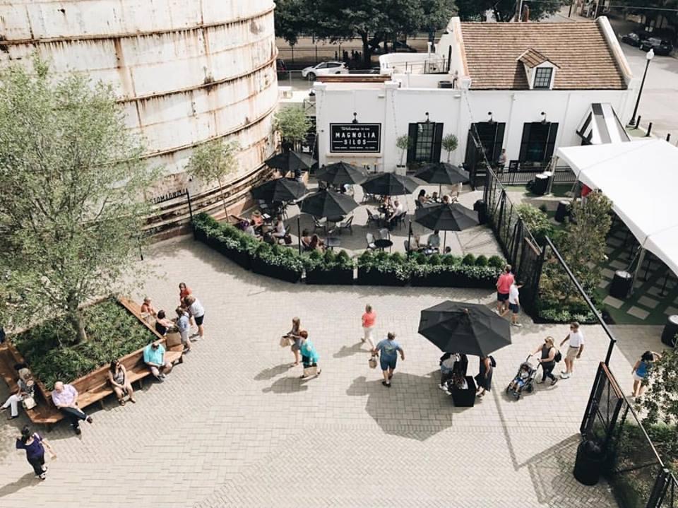 aerial view of Magnolia Market