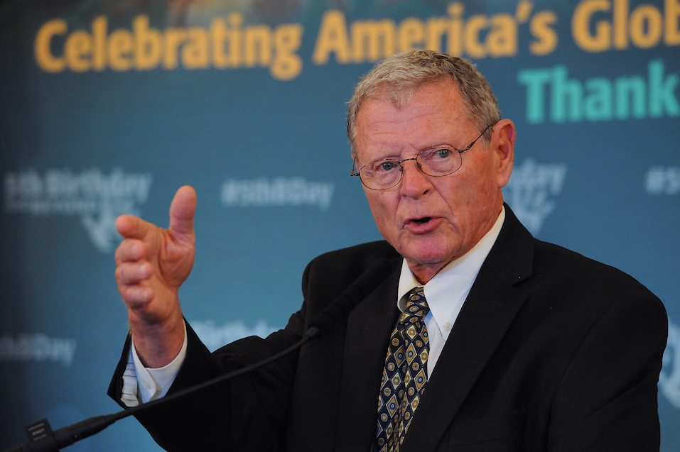 Sen. Jim Inhofe (R-OK) speaks at the 5th Birthday And Beyond event at the Russell Senate Office Building