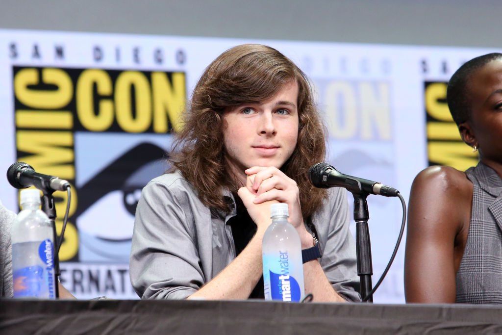 Actor Chandler Riggs from 'The Walking Dead' at the Hall H panel with AMC at San Diego Comic-Con International 2017.
