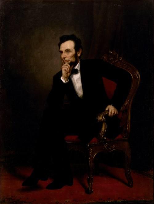 A portrait of Abraham Lincoln