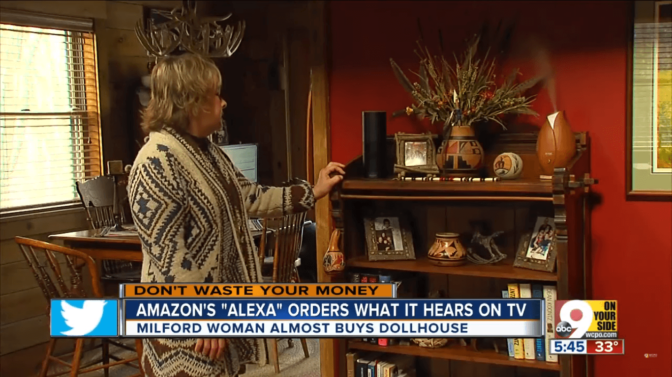 Amazon Alexa Echo orders from TV