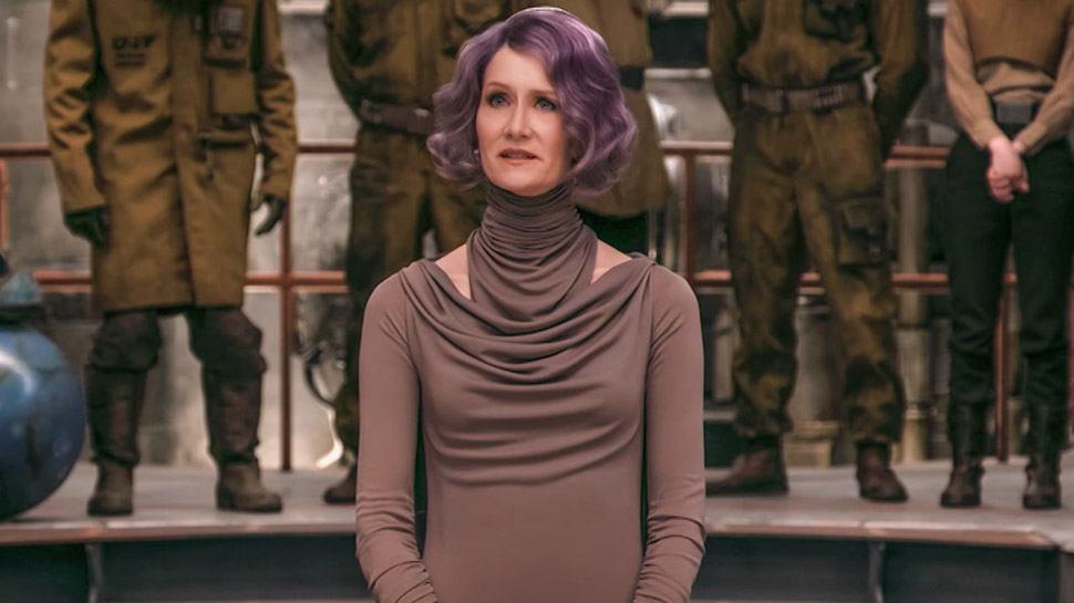 Laura Dern as Amilyn Holdo in The Last Jedi
