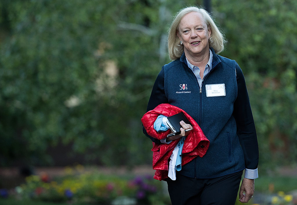 Meg Whitman, chief executive officer of Hewlett Packard (HP), attends the annual Allen & Company Sun Valley Conference