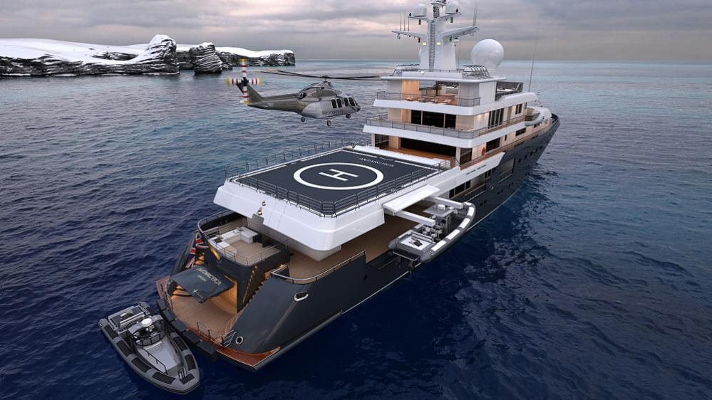Antarctica luxury yacht
