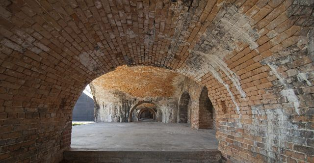 Arches of a Civil War Settlement, Fort Pickens