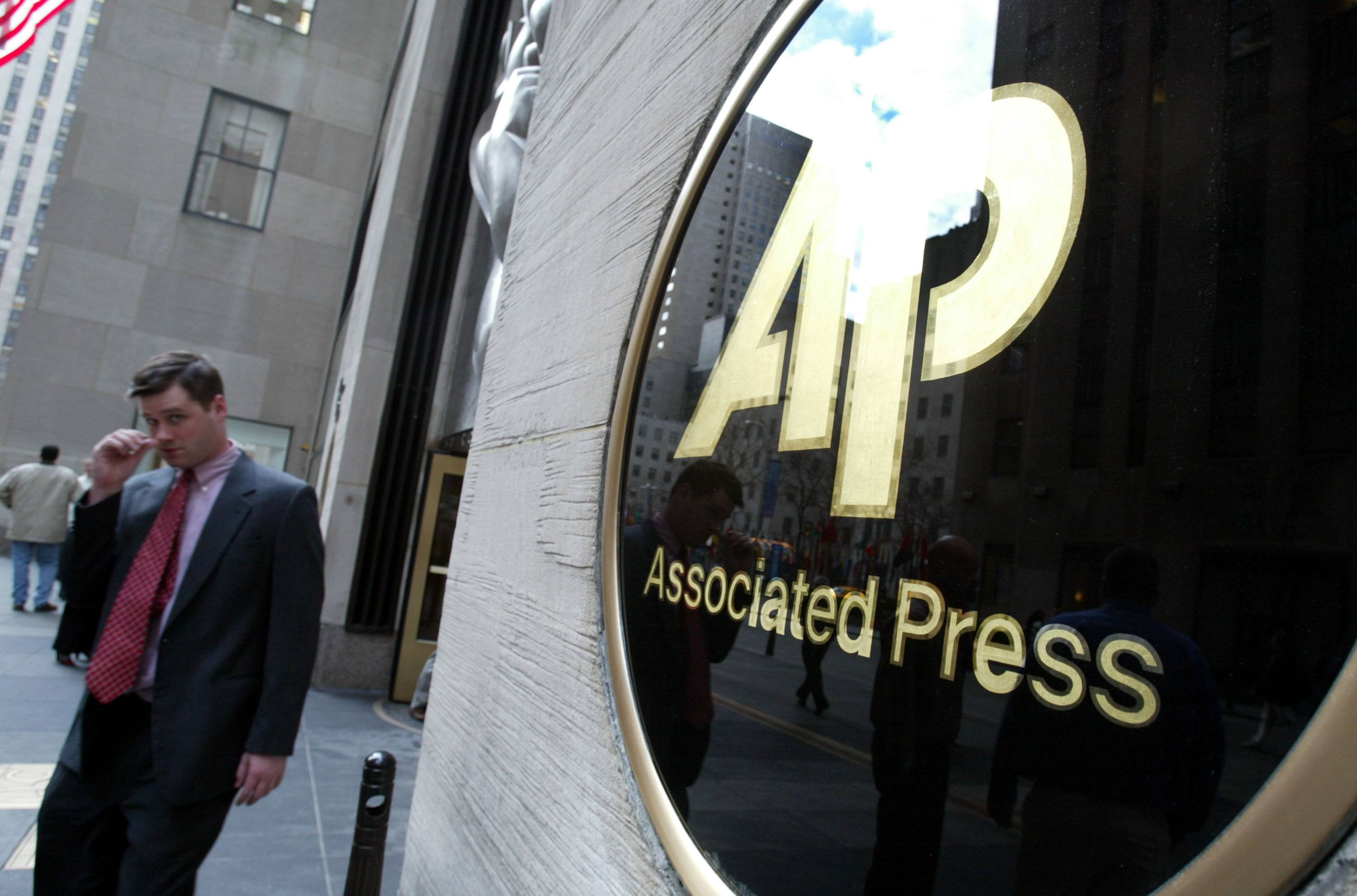 Associated Press logo on building