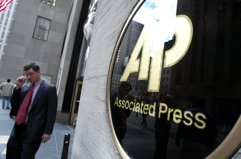 Associated Press logo on building