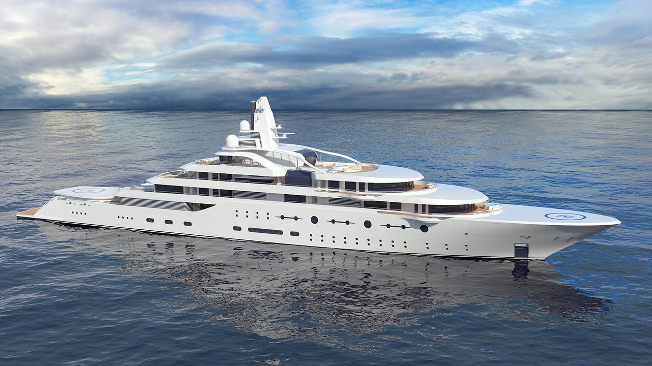 Atom luxury yacht