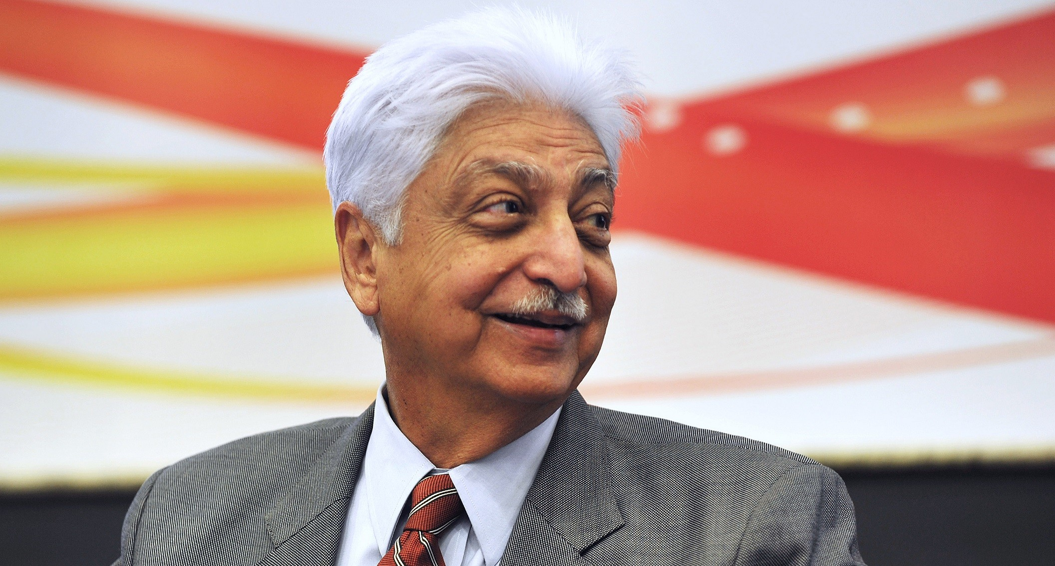 Azim Premji Indian billionaire smiling