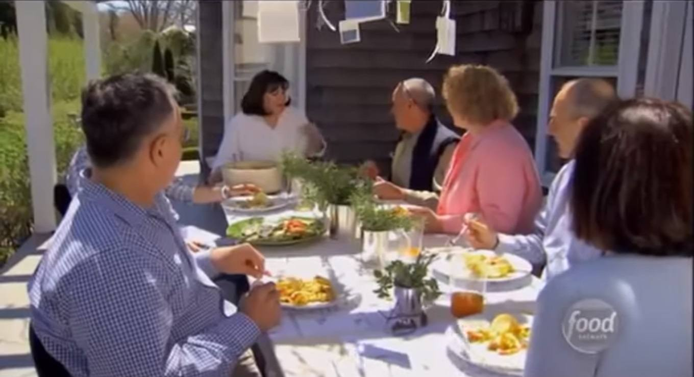 Ina Garten outdoor dinner party