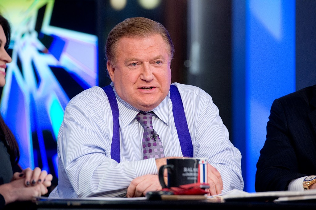 Co-host Bob Beckel attends FOX News' 'The Five' at FOX Studios on February 26, 2014 in New York City.