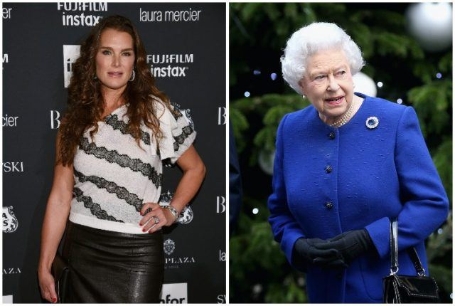 Brooke Shields and Queen Elizabeth.