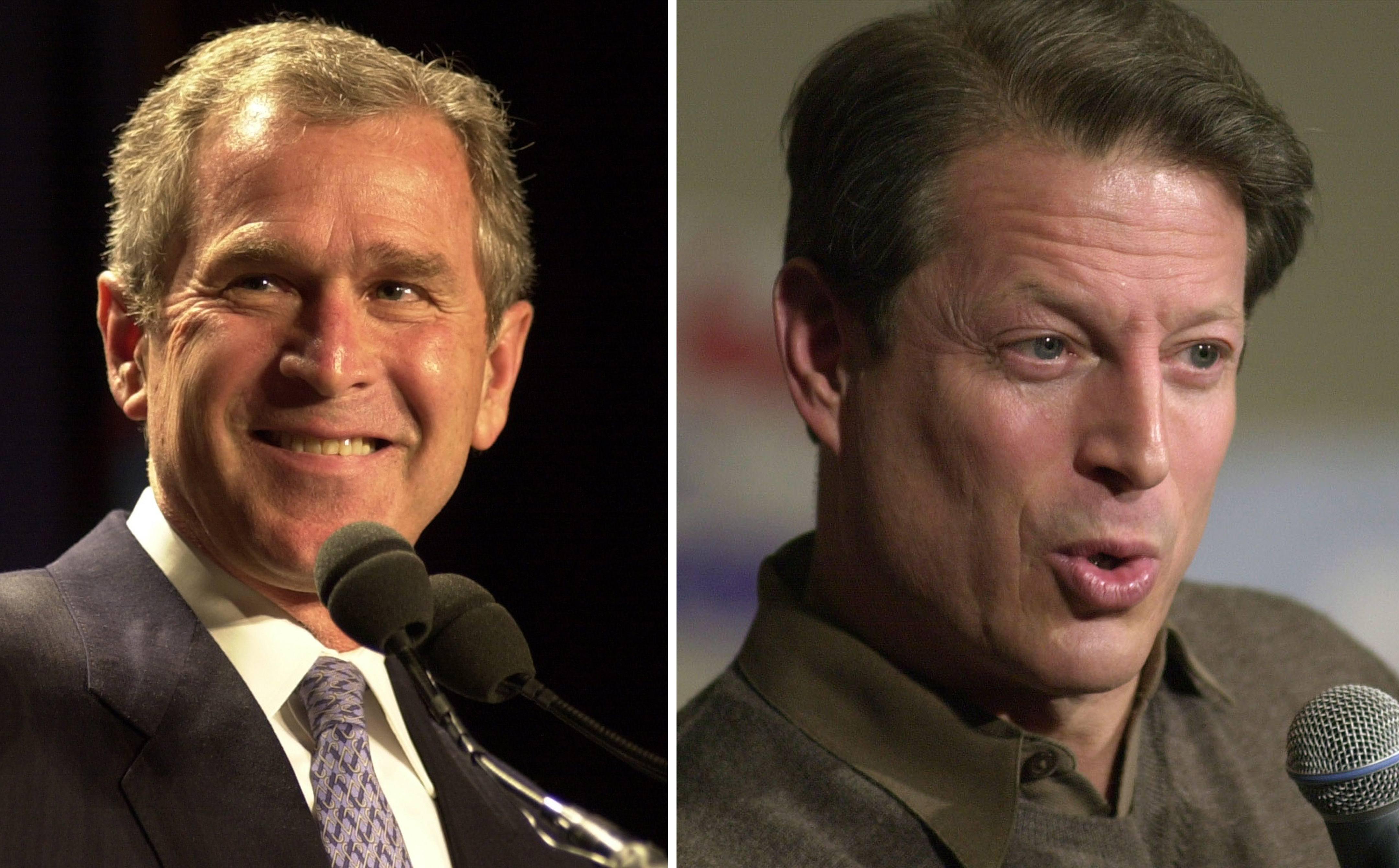 George W Bush v Al Gore